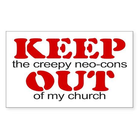 Keep out... church Rectangle Sticker