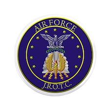 """AIR FORCE J.R.O.T.C. 3.5"""" Button"""