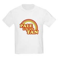 Pale is the new tan Kids T-Shirt