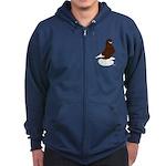 Tumbler Pigeon Bearded Zip Hoodie (dark)