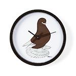Tumbler Pigeon Bearded Wall Clock
