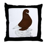 Tumbler Pigeon Bearded Throw Pillow