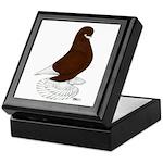 Tumbler Pigeon Bearded Keepsake Box