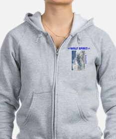 Cute Native american wolves Zip Hoodie