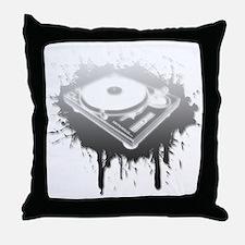 Graffiti Turntable Throw Pillow
