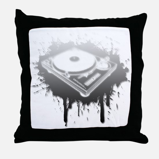Graffiti Turntable Throw Pillow