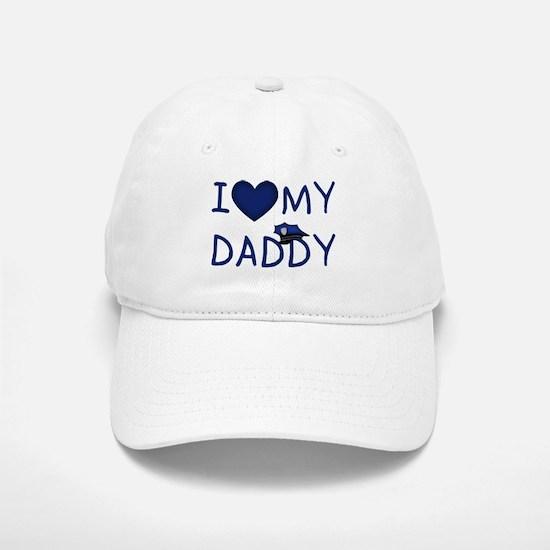 I Love My Police Daddy Baseball Baseball Cap