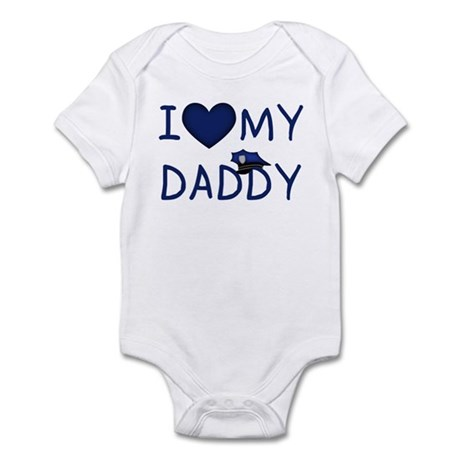 I Love My Police Daddy Infant Creeper