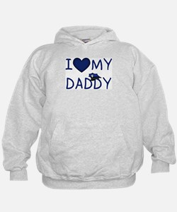 I Love My Police Daddy Hoodie