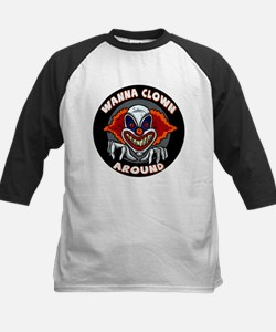 Evil Clown Kids Baseball Jersey
