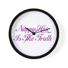 Nappy = Truth  Wall Clock