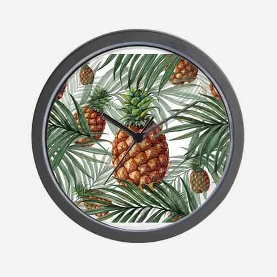 King Pineapple (full) Wall Clock