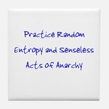 Entropy and Anarchy Tile Coaster