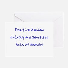 Entropy and Anarchy Greeting Card