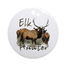 Elk Hunter Ornament (Round)