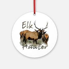 Elk Hunter Ornament (Round)