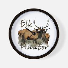 Elk Hunter Wall Clock