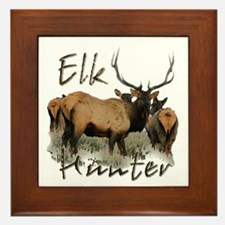 Elk Hunter Framed Tile