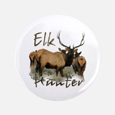 "Elk Hunter 3.5"" Button"