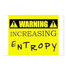 WARNING: Increasing Entropy Postcards (Package of