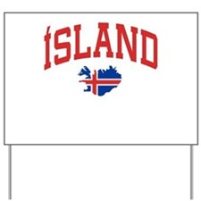 Island Map Yard Sign