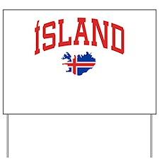 Island Map Yard Sign