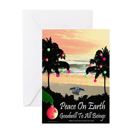 Tropical Peace Christmas Card