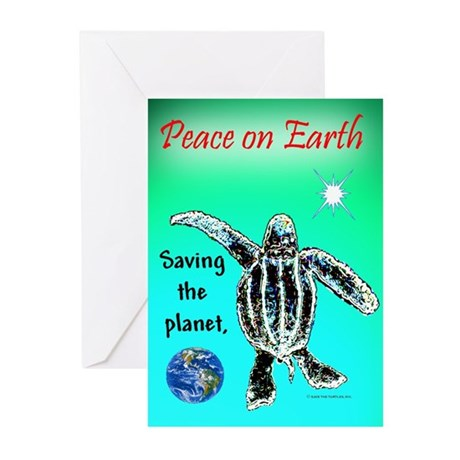 Saving the Planet - One Turtle Greeting (Pk of 10)