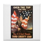 Over the Top Liberty Bonds Tile Coaster