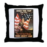 Over the Top Liberty Bonds Throw Pillow
