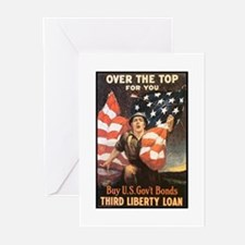 Over the Top Liberty Bonds Greeting Cards (Package
