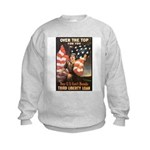 Over the Top Liberty Bonds (Front) Kids Sweatshirt