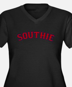 Southie (red) Women's Plus Size V-Neck Dark T-Shir