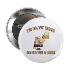 "80th Birthday Beer 2.25"" Button"