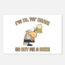 70th Birthday Beer Postcards (Package of 8)