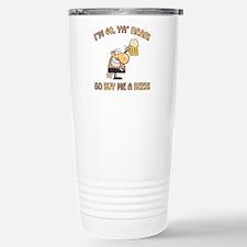 40th Birthday Beer Stainless Steel Travel Mug