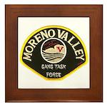 Moreno Valley Gang Task Force Framed Tile