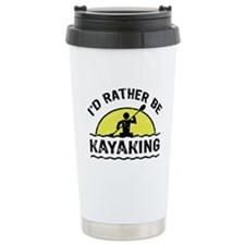 I'd Rather Be Kayaking Thermos Mug