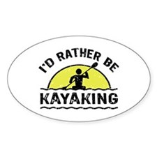 I'd Rather Be Kayaking Decal
