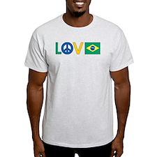 Love Peace Brazil T-Shirt