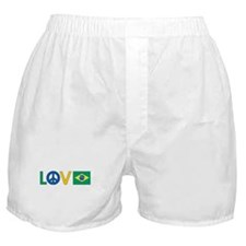 Love Peace Brazil Boxer Shorts