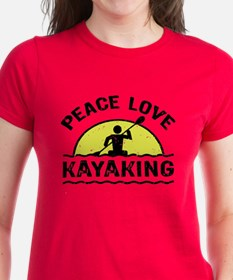 Peace Love Kayaking Tee