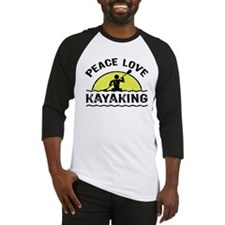 Peace Love Kayaking Baseball Jersey