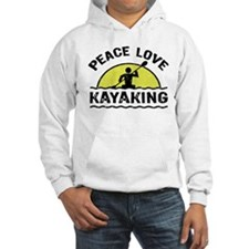 Peace Love Kayaking Hoodie