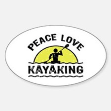 Peace Love Kayaking Decal