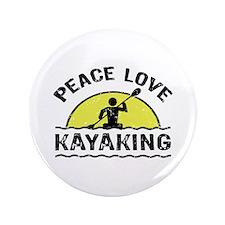 "Peace Love Kayaking 3.5"" Button"