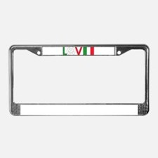 Love Peace Italy License Plate Frame