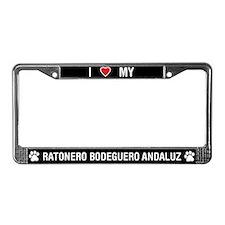 Ratonero Bodeguero Andaluz License Plate Frame