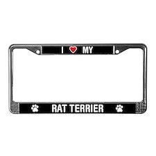 I Love My Rat Terrier License Plate Frame