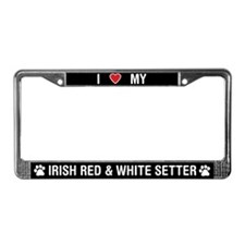 Love My Irish Red & White Setter LicensePlateF